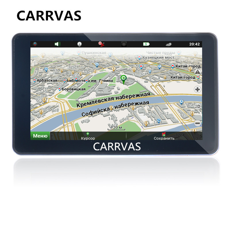 CARRVAS 7 inch Car GPS navigation DDR 256 MB 8G ROM 800 MHz WinCE 6 0
