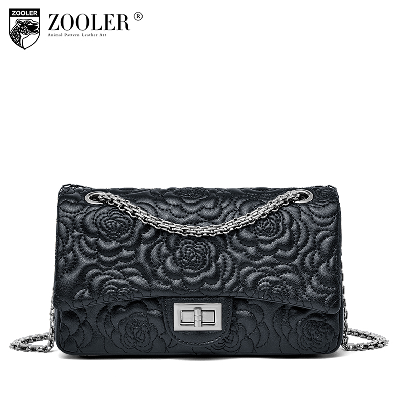 New&hot ZOOLER Genuine Leather shoulder bag luxury embossed women bags designer high quality cross body bags bolsa feminina E116 zooler genuine leather bags for women capacity real leather bag luxury casual for lady high quality bags bolsa feminina 2109