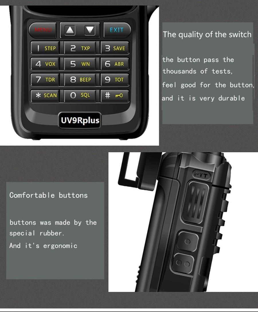 Baofeng UV-9R Plus Handheld Walkie Talkie 8W 2800mAh Dual Band IP67 Waterproof Two Way Radio hf Transceiver UV 9R camping (17)