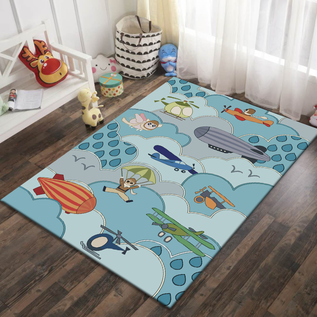 Alibaba Hot Sale Modern Art Soft Cartoon Crocodile Puppy Kids Carpet Rug For Children 39 s Room Non slip Antifouling Factory Supply in Carpet from Home amp Garden