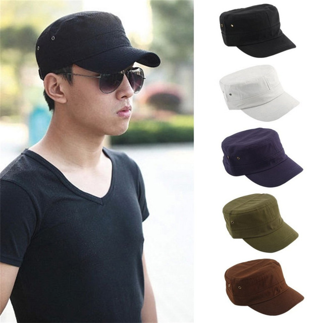 2018 Men Women Casual Baseball Cap Classic Hat Preppy Style Adjustable Army  Plain Vintage Cadet Caps News boy hats Multicolor 81c07222f59