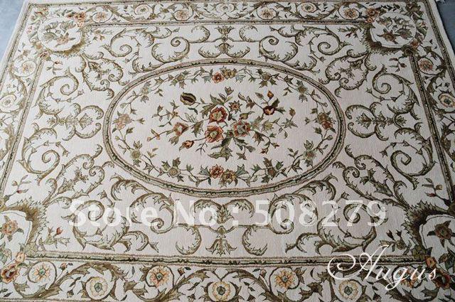 900mmX1500mm European royal luxury handmade 100% Pure New Zealand wool Roving carpet CPT029