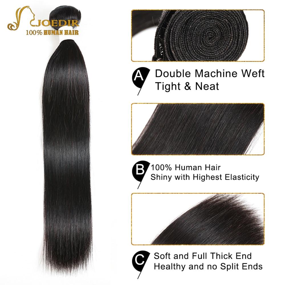 Joedir haj előszínes emberi hajcsomagok bezárása Brazilian Hair - Emberi haj (fekete) - Fénykép 3
