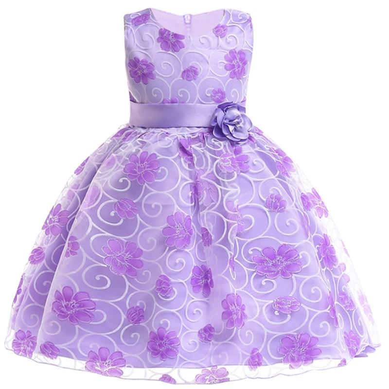 Verano niños vestidos para niñas niños encaje bordado princesa ...