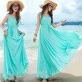 2016 Summer New Solid Bohemian Style Maternity Long Dress Pregnant Women Beach Dress Maternity Sleeveless Fashion Clothes