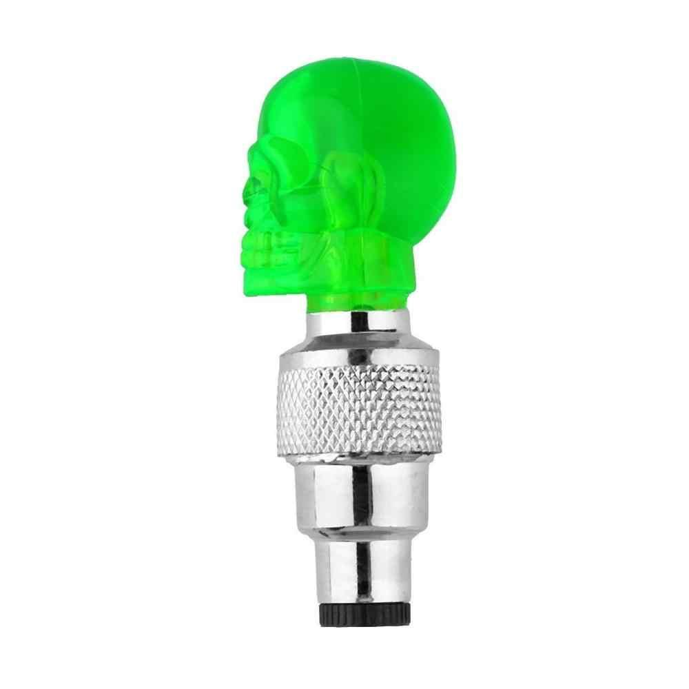 אוניברסלי 4 צבעים גלגל צמיג שסתום איטום כובע גולגולת צורת LED אור מנורת רטט על/Off Fit אופניים אופנוע רכב