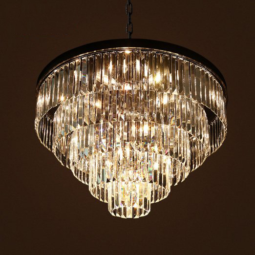 Living room restaurant luxury crystal lamp creative rectangular living room restaurant luxury crystal lamp creative rectangular round modern villa chandelier crystal chandelier without light in pendant lights from aloadofball Choice Image
