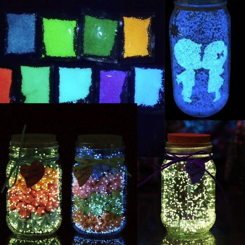Glow In The Dark 10g Luminous Party DIY Bright Paint Star Wishing Bottle Fluorescent Particles Toys