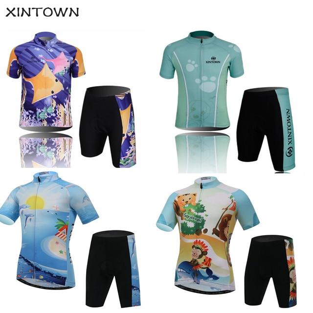 55334339f Kids Cycling Jersey Suit Short Sleeve Cycling Bike Clothing Children Bicycle  Sportswear Boy Girl Bike Jersey Ciclismo