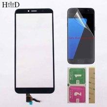 Mobil dokunmatik ekran paneli Için Huawei Onur 7A Pro AUM L29 Onur 7C AUM L41 dokunmatik ekran digitizer Sensörü Dış Cam Panel Mendil