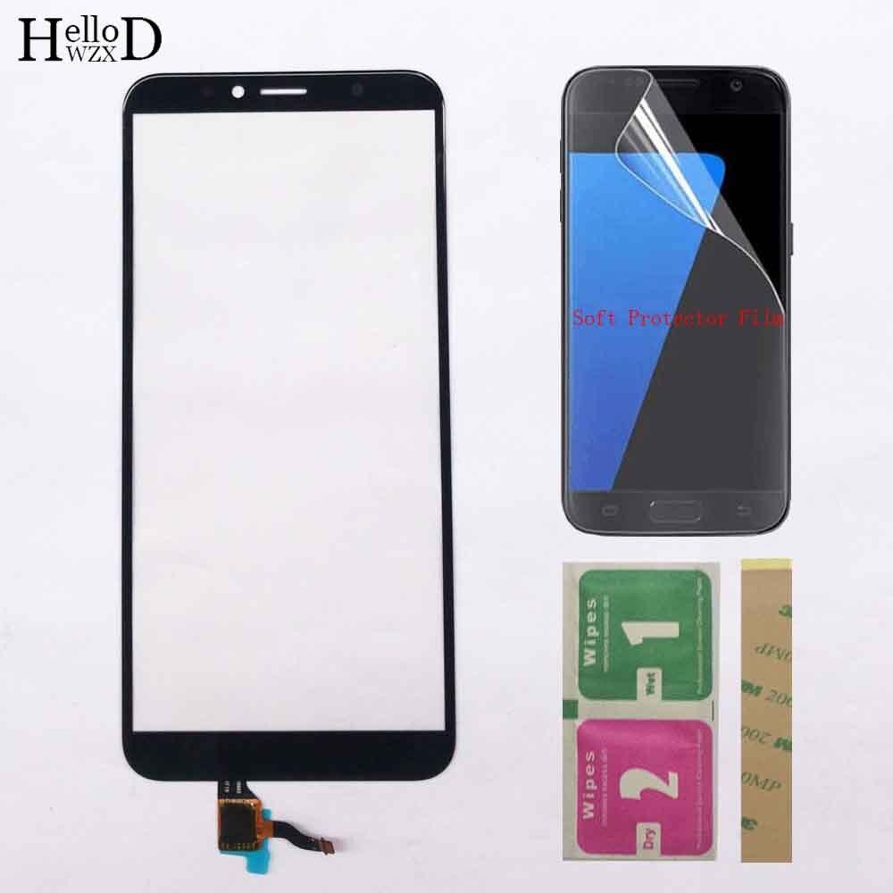 Сенсорная панель для мобильного телефона Huawei Honor 7A Pro, сенсорный экран для Honor 7C, сенсорный экран с цифровым преобразователем, внешнее стекло,...