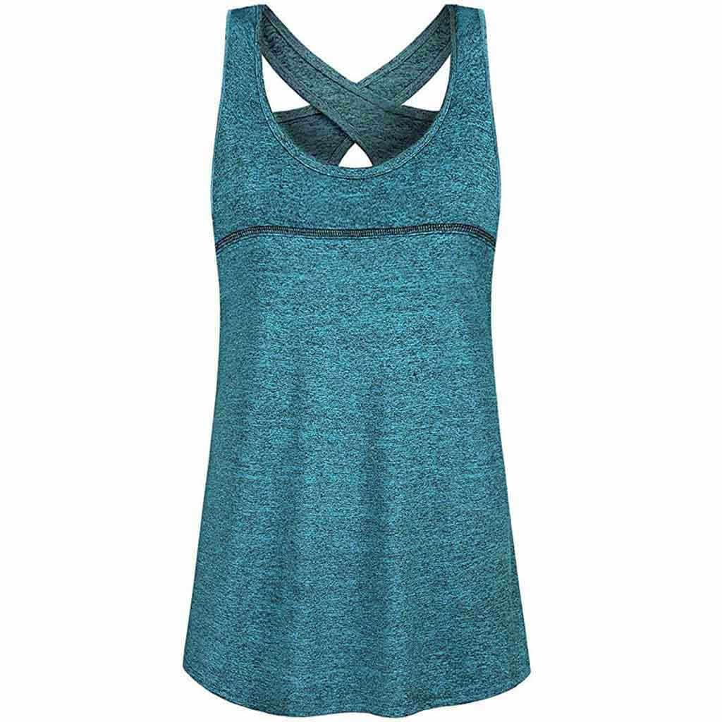 Yoga tops Frauen lauf t-shirt backless Schnell trocknend entspannt gym fitness atmungsaktiv T-Shirt Damen casual ärmellose tank tops