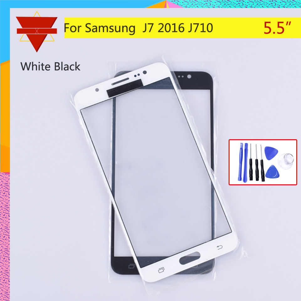 TouchScreen Für Samsung Galaxy J7 2016 J710F J710FN Touch Screen Front Panel Glas Objektiv Outer LCD Glas