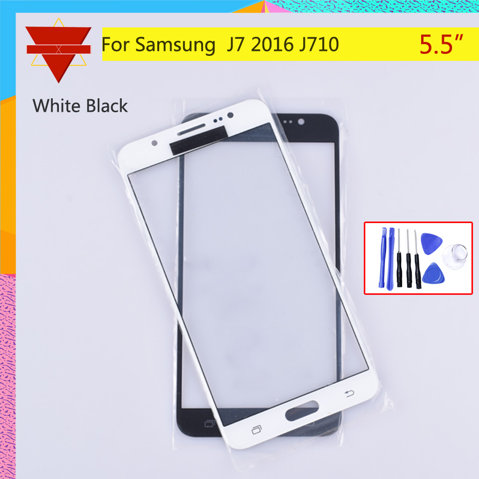 TouchScreen For Samsung Galaxy J7 2016 J710F J710FN Touch Screen Front Panel Glass Lens Outer LCD Glass