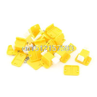 10 Pcs Plastic Prototype Test Fixture Latch Yellow White for PCB Board high tech electric plastic accessory prototype