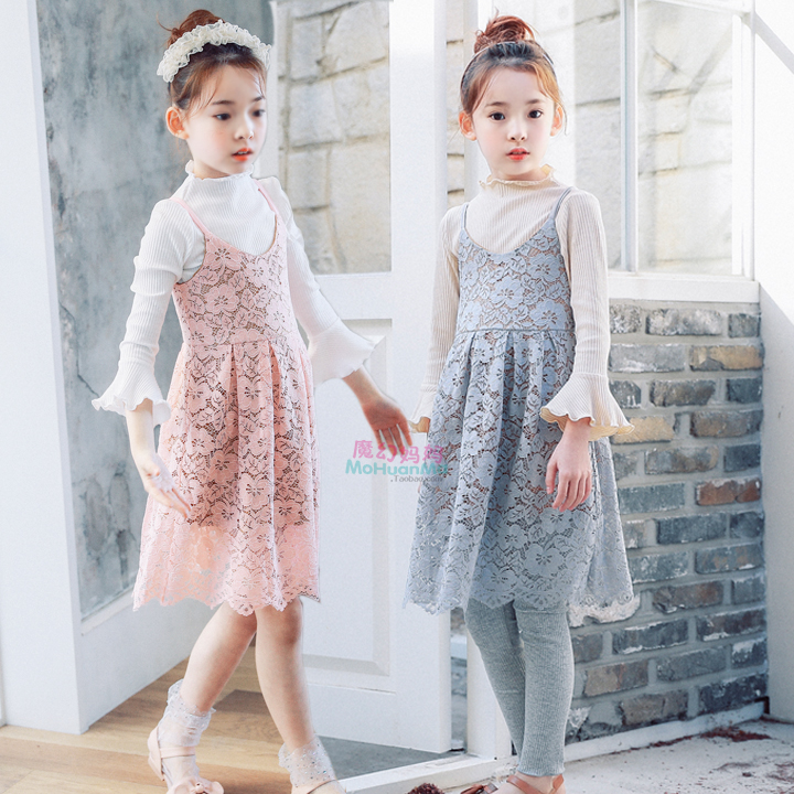 Pretty Girls Lace Dress 2018 New Party Summer Toddler Kids Clothes Princess Dress Children Clothes Baby Girls Pink Gray Dress 14 ems dhl free 2018 new lace tulle baby girls kids sleeveless party dress holiday children summer style baby dress valentine