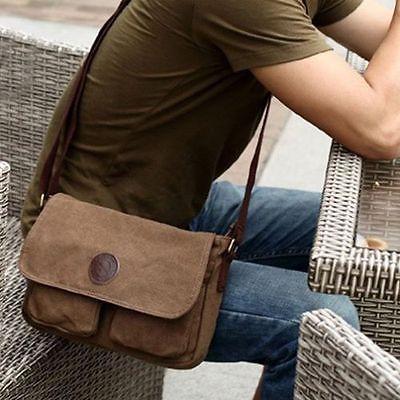 Men's Vintage Casual Canvas Shoulder Bags Messenger Man Satchel Boy School Book Bag Rucksack 2