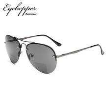 S16016-Eyekepper Half-rim Pilot Style Bifocal Reading Sungla