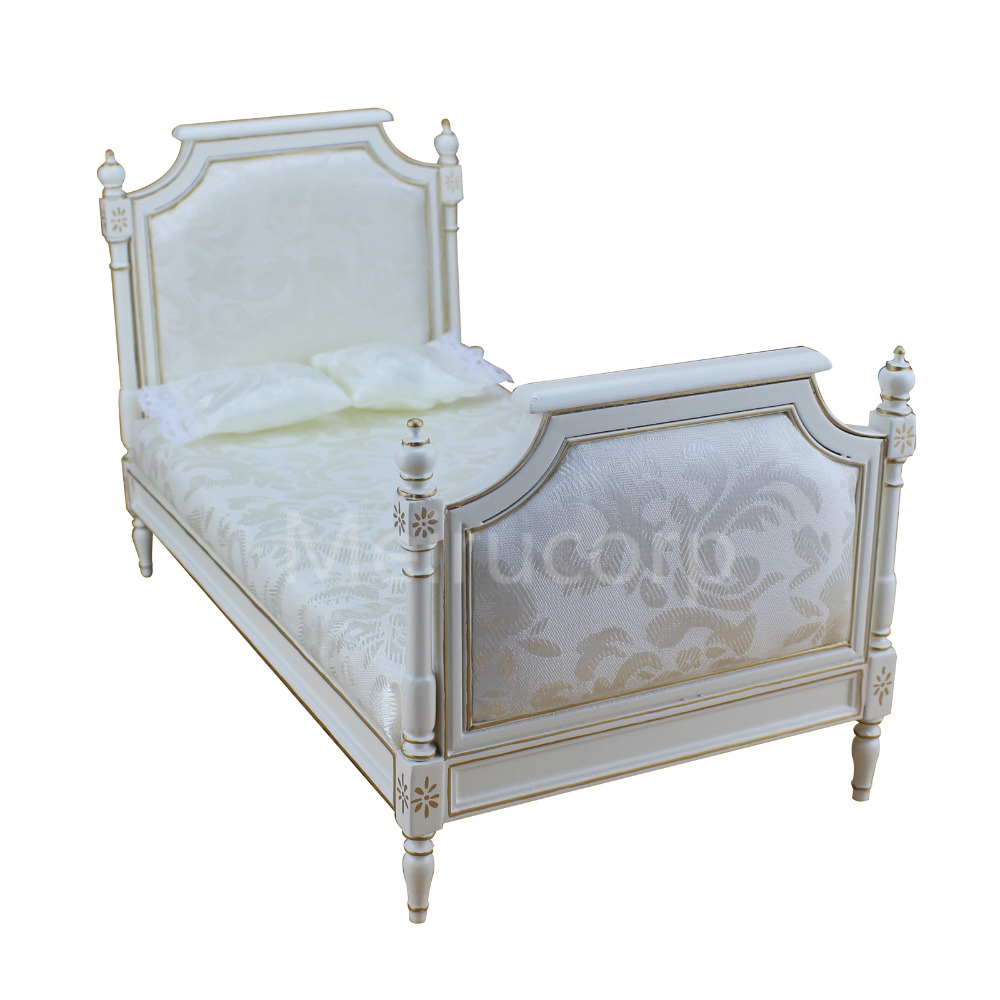 Doll miniature furniture 1//6 th Collection white Hand gilt Dressing table mirror