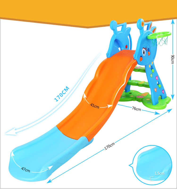 indoor small plastic slide chute accessories children paradise Children plastic playground slide kindergarten playground toys inflatable sand tray plastic mobile table for children kids indoor playing sand clay color mud toys accessories multi function