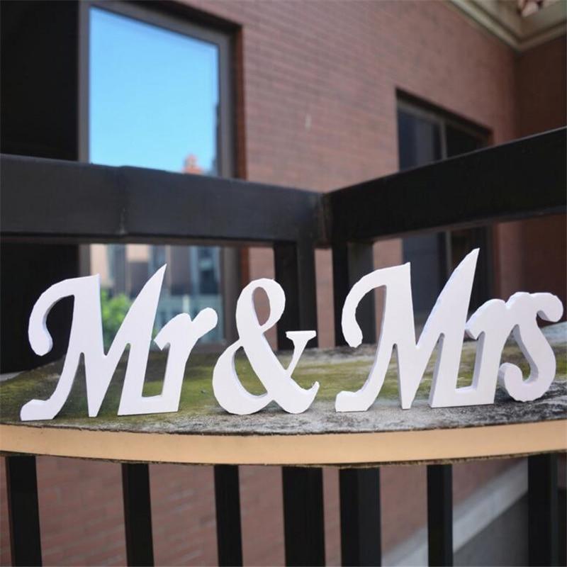 1 компл. Mr & Mrs знаки Mr & Mrs буквы для милая Таблица Декор Свадебный реквизит для фотосессии для свадьбы Event Вечерние украшения поставки