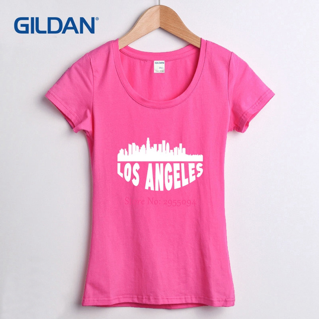 163fd04be0 Tee Shirt Price 2018 Los Angeles Women Solid T Shirt Hop Grey Girls T-Shirt  100% Cotton Clothes Femme
