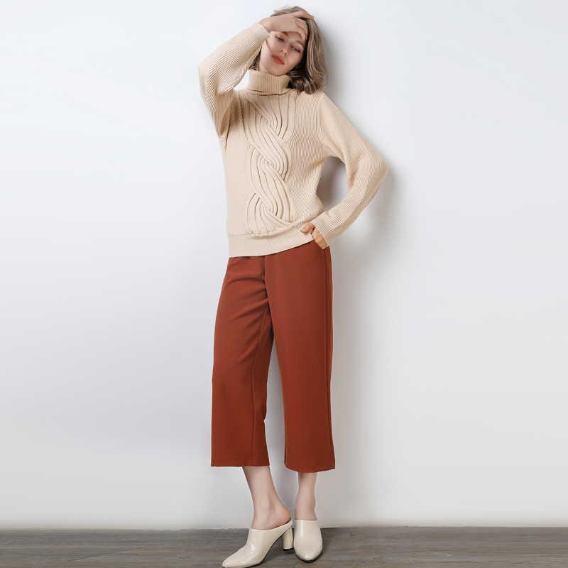 터틀넥 캐시미어 스웨터 여성 레저 대형 여성용 스웨터 겨울 캐시미어 스웨터 여성용 스웨터 풀오버 여성용