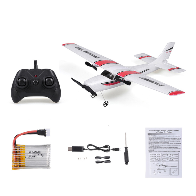 FX801 RC Plane Cessna 182 2.4GHz 2CH RC Airplane Durable 20 Minutes Flying Time Outdoor RC Aircraft Model Toys for Beginner 6