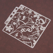 Perfect Flower Sticker Painting Stencils for Diy Scrapbooking Stamps Home Decor Paper Card Template Decoration Album Crafts Art love cat heart sticker painting stencils for diy scrapbooking stamps home decor paper card template decoration album crafts art