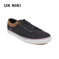 UKNIKI 2018 New Shallow Lace Up Canvas Men S Vulcanize Shoes