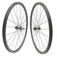 700c carbon disc road wheels 35X30mm Asymmetry D411SB/D412SB 100x15 142x12 1360g carbon road wheels tubeless disc road wheels