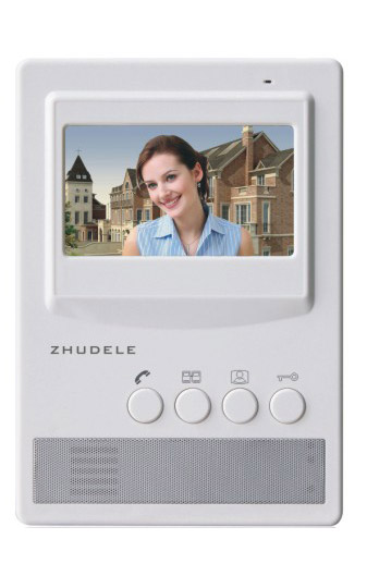 ZHUDELE Brand 4.3 Inch Video Door Phone Home Security Intercom System Doorbell Kit Monitor