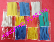 цена на 120pcs /lot 10.0mm 10cm length pvc heat shrink tube ratio 2:1 sleeving  box package