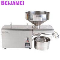 BEIJAMEI 2020 Commercial Use Oil Press Machine 110V 220V Seed Cold Hot Press Oil Machinery Peanut Coconut Oil Extraction