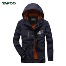 TAPOO Men's Jackets 2017 Spring Autumn Stand Collar Windpoof Waterproof Casual Solid Long Sleeve Men Coat Brand Clothing 728