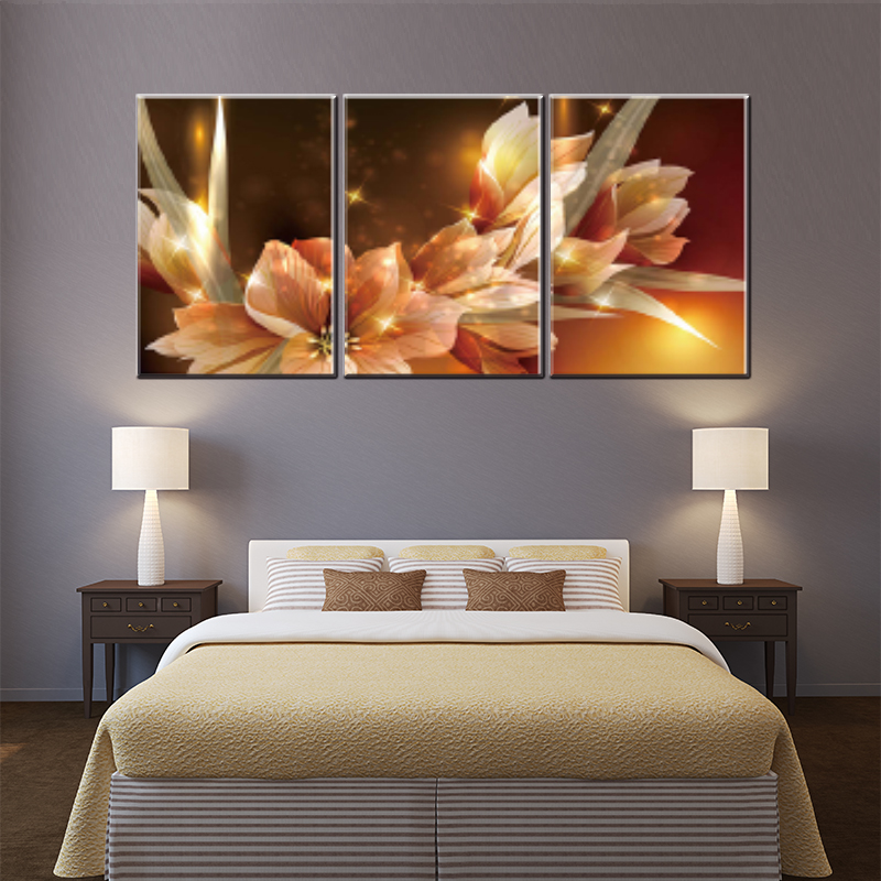 hog sale 3 pieces canvas oil painting beauty flowers print on canvas for home decoration living room wall art craft pictures