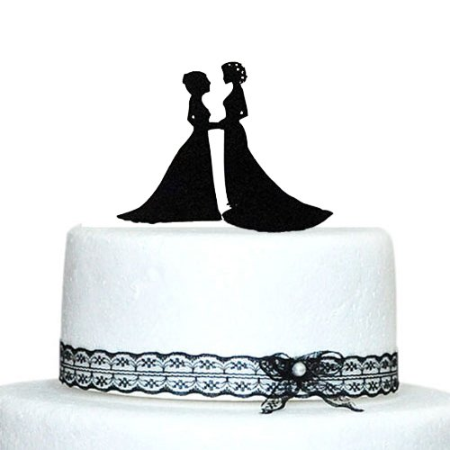 Exceptional Personalized Wedding Cake Topper Same Sex Wedding, Two Bride Cake Toppers, Lesbian  Wedding Decoration