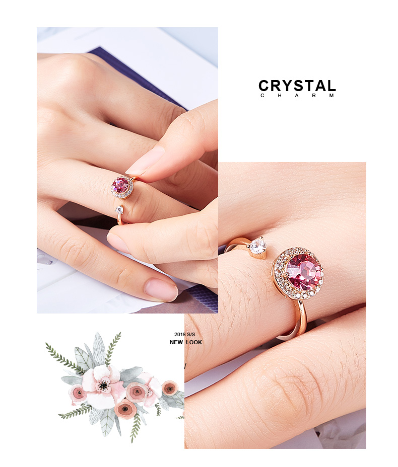 Pink Crystals Rose Gold Ring (7)