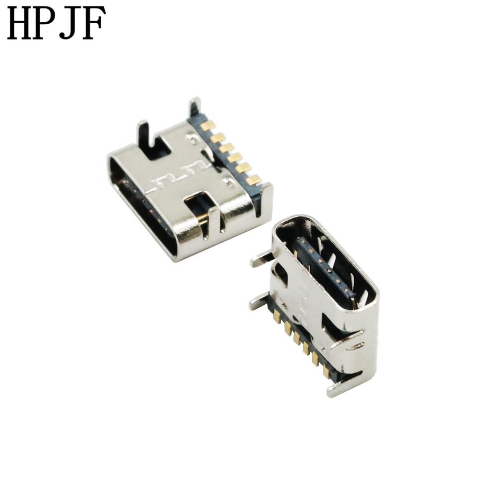 10PCS TYPE-C USB SMD FEMALE SOCKET 6P 6 PIN DIP4 SMT Hd Transmission Interface For Smartphones End Plug Charging Plug