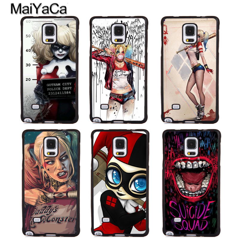 MaiYaCa Harley Quinn Style Soft Rubber Phone Cases For Samsung Galaxy S5 S6 S7 edge plus S8 S9 plus Note 4 5 8 Back Coque Cover
