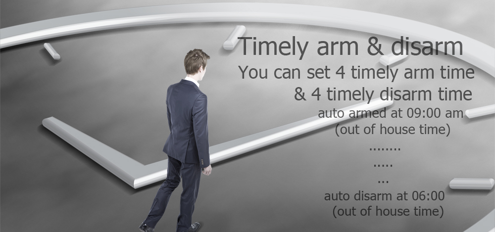timly arm and timly disarm