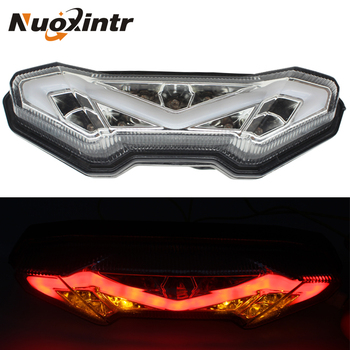 Nuoxintr 12V Motorcycle LED Tail Rear Brake Lights Turn Signal Lights Blinkers For Yamaha MT-09 FZ-09 2014 2015 2016