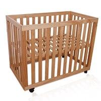 Детская кровать Многофункциональный Детские кроватки высокое качество древесины Регулируемая кроватки для младенцев безопасный кровать