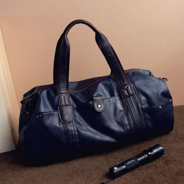 Bagsco Men's Chinese Vintage Retro Leather Travel Bag