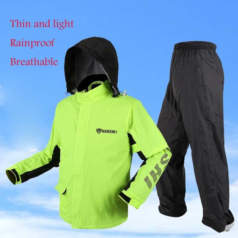 Мотоцикл плащ костюм мотоцикл от дождя включают Куртки Штаны Открытый Рыбалка езда на непроницаемой дождь куртка крышка