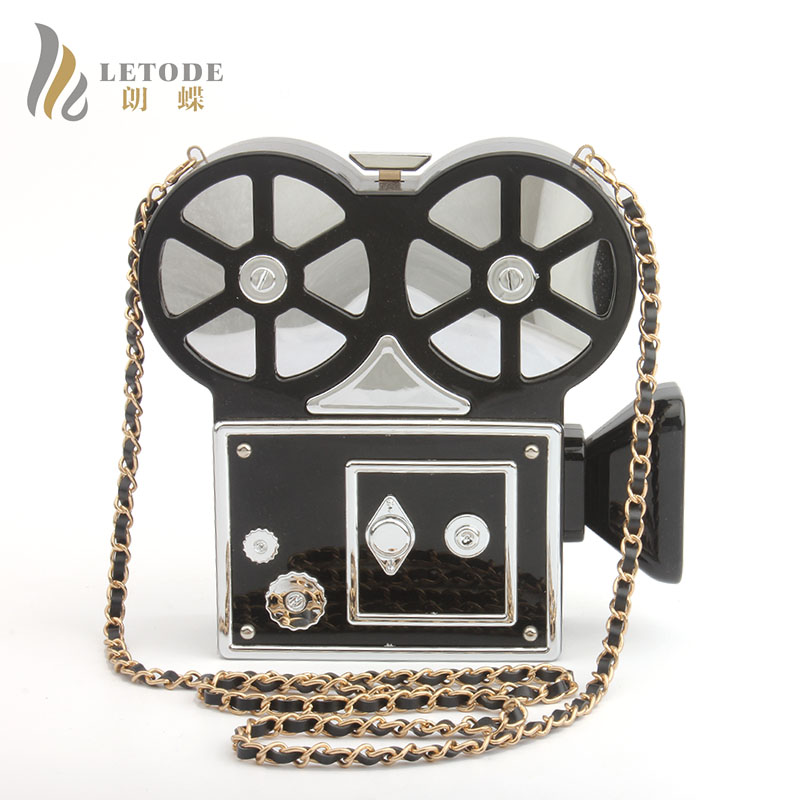 HOT SALE!2018 Women Messenger Bags Fashion Evening Bag Clutch Video Camera Shape Bag Women Shoulder Bags Handbag bolsa feminina hot sale evening bag peach heart bag women pu leather handbag chain shoulder bag messenger bag fashion women s clutches xa1317b
