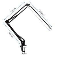 Lâmpada ajustável led braço oscilante lâmpada de mesa regulável flexível braçadeira lâmpada para arquiteto engenheiro leitura escritório dobrável luz b|Luminária de mesa| |  -