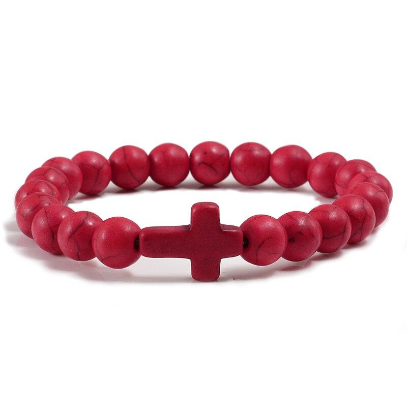 Bereidwillig Hoge Kwaliteit Mannen Sport Cross Armbanden Armbanden Voor Vrouwen Classic Natuursteen Armband Charm Sieraden Accessoires Paar Gift