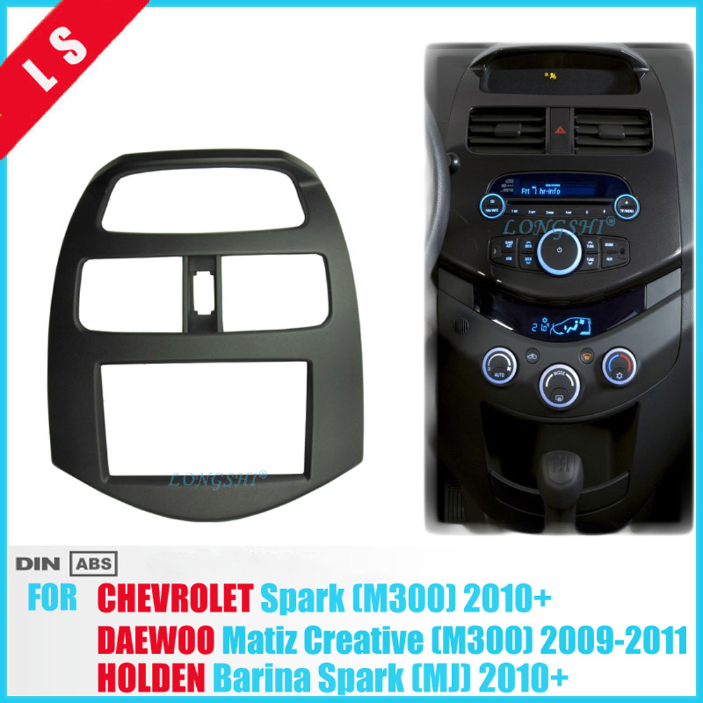 Double 2 Din Fascia pour CHEVROLET Spark M300 cadre Radio GPS DVD stéréo CD panneau tableau de bord montage kit d'outils pour habillage, 2din