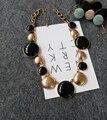 Accesorios de moda la geometría de la moda círculo multicolor del todo-fósforo elegante collar del diseño corto collar de mujer